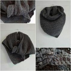 Omslag sjaal in grijs tweed door ZETTElen op Etsy
