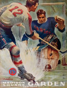 Vintage New York Rangers program.