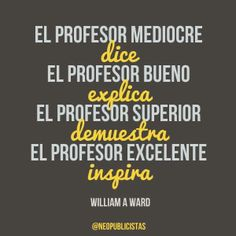 Que es ser profesor
