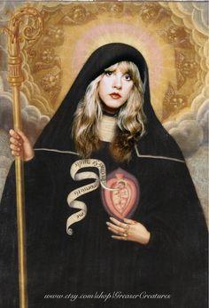 Saint Stevie Nicks Prayer Candle Patron Saint by GreaserCreatures