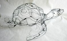 Wire sculptures – David Oliveira Portuguese sculpture David Oliveira creates his refined sculptures from wire, using transparent strings to create the illusion of levitation. The sculptures themselves give us the impression of inked sketches. Chicken Wire Sculpture, Wire Art Sculpture, Sculpture Projects, Wire Sculptures, Abstract Sculpture, Bronze Sculpture, Sculptures Sur Fil, Animal Sculptures, Stylo 3d