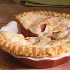 our fav..strawberry rhubarb pie :)