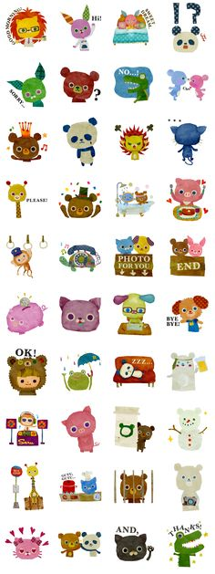 little animals stickers
