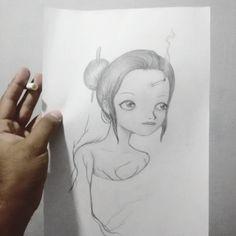 Tava organizando aqui meus desenhos e vi esse que fiz em 2013 quando conheci a Andrezza Lima numa noite e fiquei inspirado pra desenhar no dia seguinte. Usei a imagem que tive dela na minha cabeça. Primeira impressão.