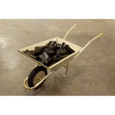 José Bento / Black Gold, 2011 - Plated and polished brass, wood and rubber 65 x 62 x 131 cm