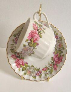 James Kent Old Foley Harmony Rose Cup Saucer Made in England #JamesKentOldFoley