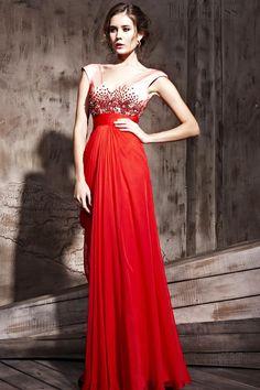 Gorgeous A-Line V-Neck Empire Prom Dress ★ Prom