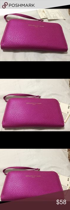 Adrienne Vittadini Charging Wristlet (Fuschia GOOD VALENTINES DAY GIFT! About this item Description NEVER get stranded without power again! Now you can charge your phone inside your wallet! At last, one portable power source to charge all your devices at work, at the gym, out to dinner, while shoppi ... SEE MORE Features & details Product Group: Luggage Product Type: Wristlets Product Brand: Adrienne Vittadini PRICE FIRM! Adrienne Vittadini Bags Wallets