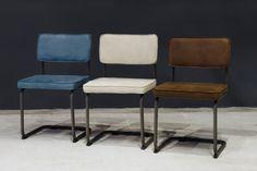 Viggo buisframe stoel petrol blauw