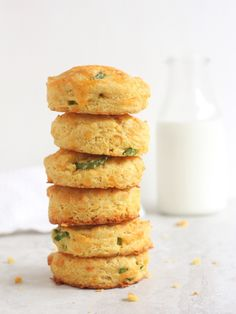 Cheddar-Jalapeño Cornmeal Biscuits - Completely Delicious