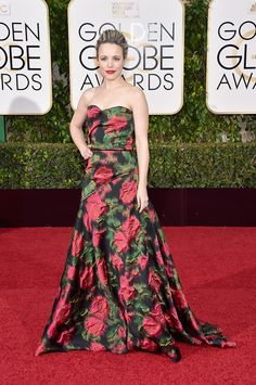 Rachel McAdams in Lanvin // See the best-dressed celebrities on the Golden Globes 2016 red carpet