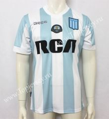 2017-18 Racing Club de Avellaneda Blue and White Thailand Soccer Jersey