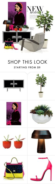 """Florence Nightingale pop art..."" by gloriettequartet ❤ liked on Polyvore featuring interior, interiors, interior design, home, home decor, interior decorating, MOROSO, Distinctive Designs, Lux-Art Silks and Dot & Bo"