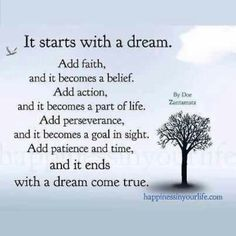 Be patient & in time all your dreams will come true