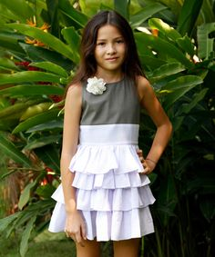 Look at this La faute à Voltaire Lilac Ruffle BB Dress & Pin - Toddler & Girls on #zulily today!