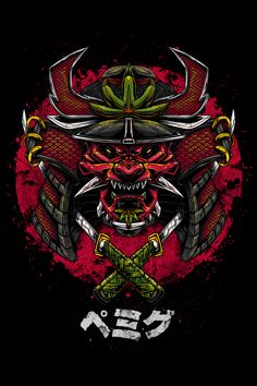 Ganjamurai on Behance Japanese Tattoo Art, Samurai Wallpaper, Samurai Artwork, 4 Tattoo, Samurai Tattoo, Japan Art, Art Logo, Ninja, Surf Logo