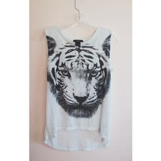 Forever 21 Tops - White tiger muscle tee
