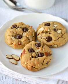 Almond Joy Cookies are soft, filled with melted chocolate, flaked coconut and almonds.  So addicting!