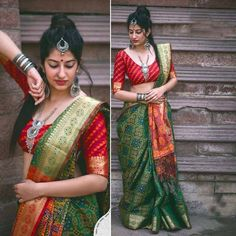 Designer Bollywood south Indian Saree wedding Blouse Ethnic tussar silk sari new Saree Draping Styles, Saree Styles, Beautiful Girl Indian, Beautiful Saree, Bandhini Saree, Phulkari Saree, Velvet Saree, Pattu Saree Blouse Designs, South Indian Sarees