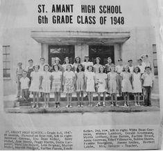 Amant High School Grade Class of 1948 St. Ascension Parish, School Grades, Old Images, Louisiana, High School, History, Pictures, Photos, Historia