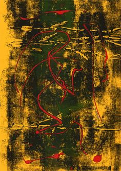 """""""9"""" - Monotipo Lust, Painting, Color, Printmaking, Color Combinations, Painting Art, Paintings, Colour, Painted Canvas"""