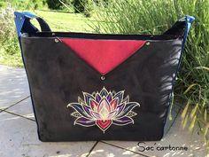 Sac Mambo lotus, suédine et liège de Sac'cartonne - patron Sacôtin