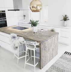 There are many kitchen and bathroom countertop options other than marble. Dare to be different with these 33 ideas for countertop surfaces that aren't marble! For more…