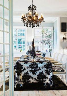stylish black and white christmas decor 6 » Black and White Christmas Decorating Ideas post photo
