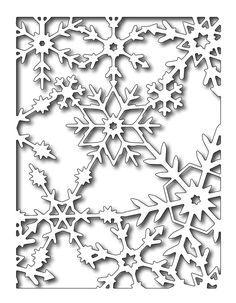 Frantic Stamper Precision Die - Reverse Snowflakes Panel-Frantic Stamper Precision Die - Reverse Snowflakes Panel Approx size: 5 inches x inches. NOTE: This is a REVERSE CUT die, meaning it will cut the snowflakes OUT of a card front. Christmas Colors, Christmas Art, Christmas Themes, Christmas Decorations, Kirigami Templates, Diy And Crafts, Paper Crafts, Frantic Stamper, Embossing Machine