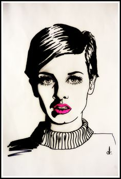 Pop Art Twiggy. by AliHopeArt