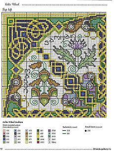 celtic 1 of 4 Pagan Cross Stitch, Fantasy Cross Stitch, Cross Stitch Love, Cross Stitch Borders, Cross Stitch Flowers, Cross Stitch Charts, Cross Stitch Designs, Cross Stitching, Cross Stitch Embroidery