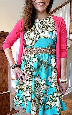 #oldnavy cardi #f21 dress #anthropologie belt & jewelry #jcrew #f21