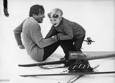 Prince Claus of the Netherlands (1926 - 2002) with his eldest son, Willem-Alexander, Prince of Orange, during a holiday in Lech, Austria, 6th March 1972.