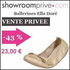 #missbonreduction; Vente privée : 43 % de réduction sur les Ballerines Ella Doré chez Showroomprive. http://www.miss-bon-reduction.fr//details-bon-reduction-Showroomprive-i853029-c1835295.html
