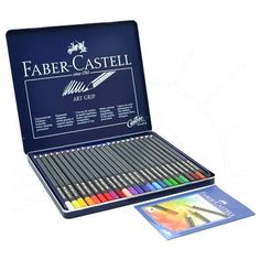 Lápis de Cor Art Grip Creative Studio Faber-Castell Lata - 24 Cores