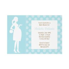Modern Baby Boy Shower Announcement  This cute Baby Boy Shower invitation is just waiting to be customized with your details. This modern and elegant shower invitation is perfect for any mom to be. © BabyStar Design