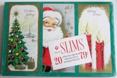 Vtg Christmas Holiday 20 Cards & Envelopes Boxed USA Illinois Laurel Inc. Gold SOLD