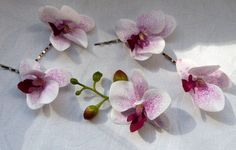 Orchid hair fascinators mini phalaenopsis by ChurchMouseCreations, $15.00