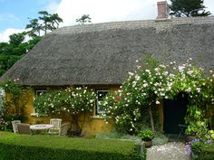 Thatched Cottage: Welcome to Adare Irish Cottages which are situated just 3 km miles) from the picturesque village of Adare and miles) from Limerick city, set in the heart of beautiful and tranquil Irish countryside. Irish Cottage Decor, Garden Cottage, Cozy Cottage, Cottage Homes, Farmhouse Garden, Beautiful Buildings, Beautiful Places, Cottages By The Sea, Cottage Exterior