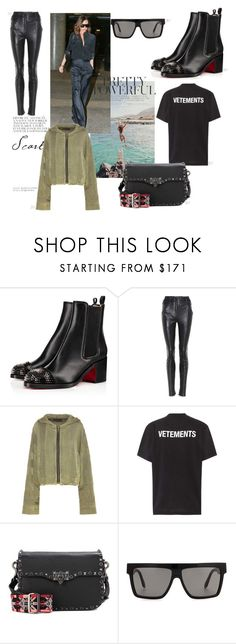 """wishes"" by mathildestaber on Polyvore featuring Christian Louboutin, Yves Saint Laurent, Haider Ackermann, Vetements, Valentino and Victoria Beckham"