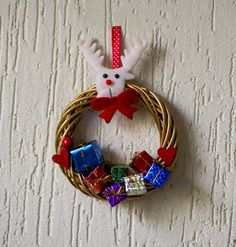Kids room Christmas decoration, Christmas decor for kids, kids room Holidays wreath, kids Holidays decoration, tiny wreath with gifts