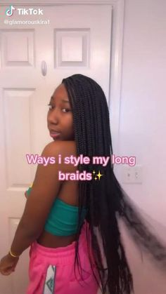 Cute Box Braids Hairstyles, Box Braids Hairstyles For Black Women, Hair Ponytail Styles, Braids Hairstyles Pictures, Twist Braid Hairstyles, Black Girl Braids, Braids For Black Hair, Braids For Black Women, African Braids Hairstyles