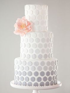 Delicious Dots Both feminine and fun, we'd have a hard time cutting into a cake this gorgeous.