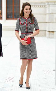<p>Leave it to the royal to brighten your day with this yellow Jenny Packham dress and taupe Monsoon espadrille wedges during her visit to Germany. </p>