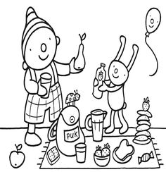 Eet smakelijk - uk en puk Summer Activities For Kids, Toddler Activities, Art Dolls, Art For Kids, Paper Art, Coloring Pages, Projects To Try, Doodles, Snoopy