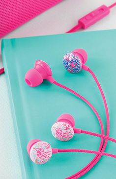 Lilly Pulitzer Printed Earbuds/Headphones- new prints, only $16