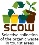 Selective collection of the organic waste in tourist areas