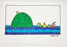 Die grüne Insel Teil 3 -  KCA15  - Federzeichnung von PiepShow auf DaWanda.com