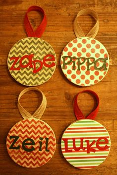 Personalized Christmas Ornaments with by TresJoliebyJosie on Etsy, $7.00