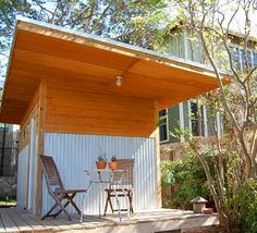Cool modern shed-metal and wood